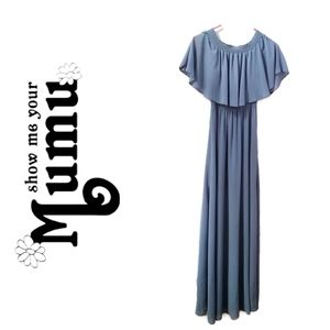 NWT SHOW ME YOUR MUMU Blue Hacienda Maxi Dress, XS